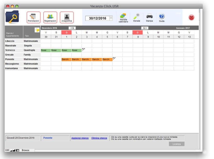 Software gestione agriturismo MacOs: Vacanza Click aggiornamento